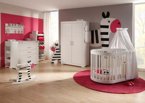 kinderzimmer einrichtung | babyzimmer komplett mini meise 01 weiß