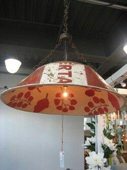 Unique Tin Hanging Lamp br#