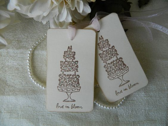 10 Love in Bloom tags wish tags favor tags wedding by Sophiasplace, USD7 ...