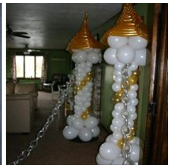 Balloon arch sculpture and columns on pinterest