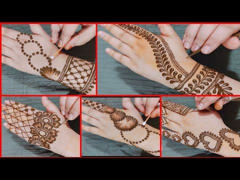 اجمل نقش حناء ستشاهدينه New Simple Mehndi Designs For Hands Gol Tikki Mehendi Henna Tutorial New Simple Mehndi Designs Simple Mehndi Designs Henna Tutorial
