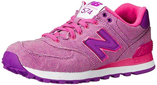 new balance 574 textile pink trainers