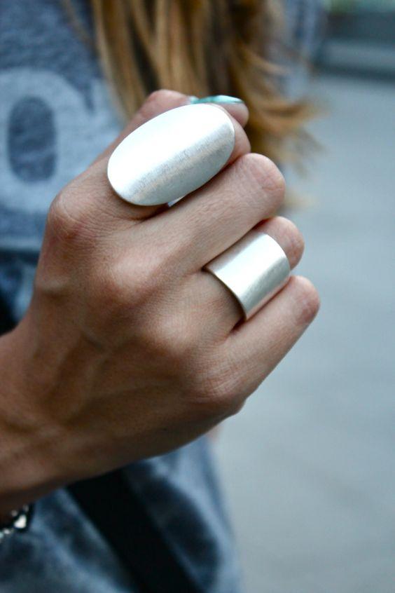 große ringe silber