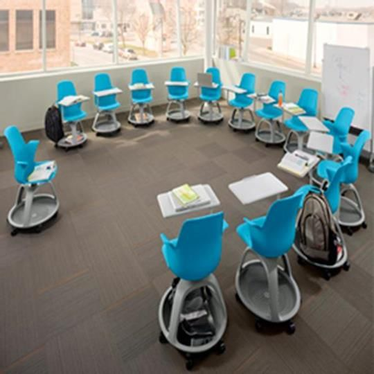 Node chairs. Love how colorful they are!