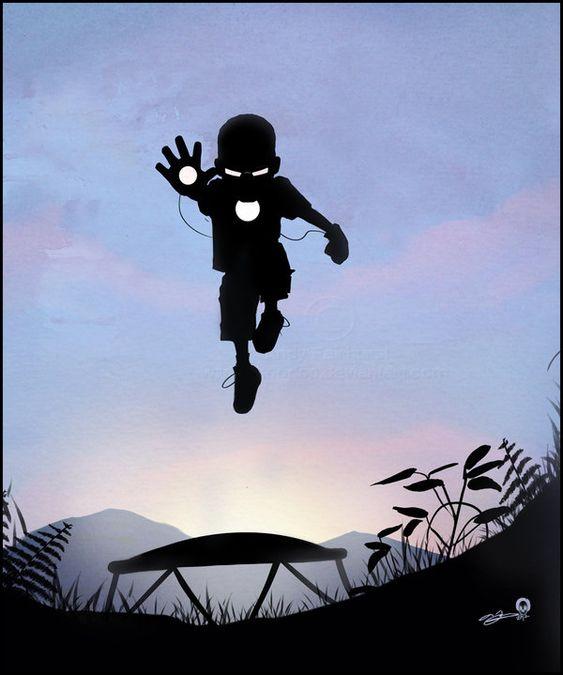 Iron Kid by *AndyFairhurst on deviantART: Andy Fairhurst, Superhero Silhouette, Iron Kid, Superhero Kids, Comic Books, Iron Man, Superheroes Kids, Ironman Kid