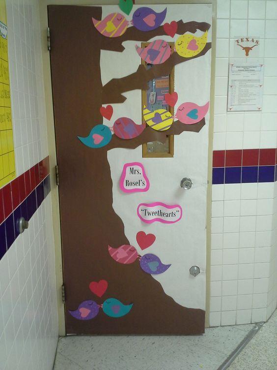 Classroom Design For Valentines : Valentines day classroom door decoration