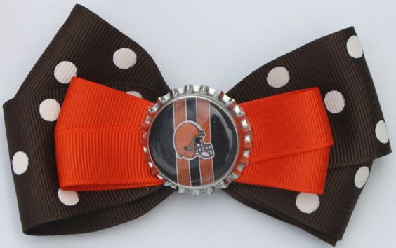 Cleveland Browns Browns Bow Browns Hair bow Cleveland by bowsforme, $7.00