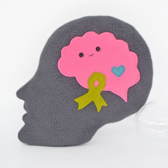 Mental health awareness plushie comfort pillow plush toy