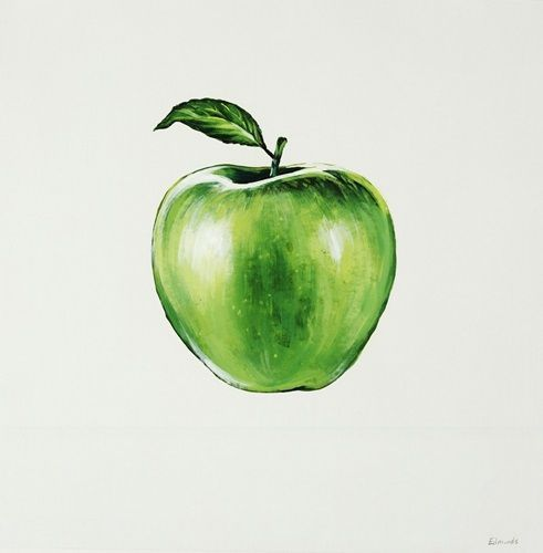 Green Apple Apple Painting Apple Art Apple Picture