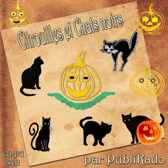 Citrouilles et chats noirs -CU