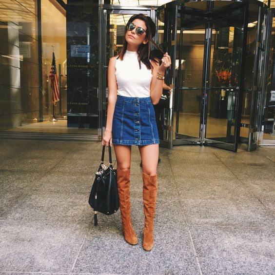 FashionDRA| Fashion Style : The Denim Skirt