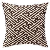 Found it at Wayfair - Cross Hatch Down Filled Embroidered Linen Pillow