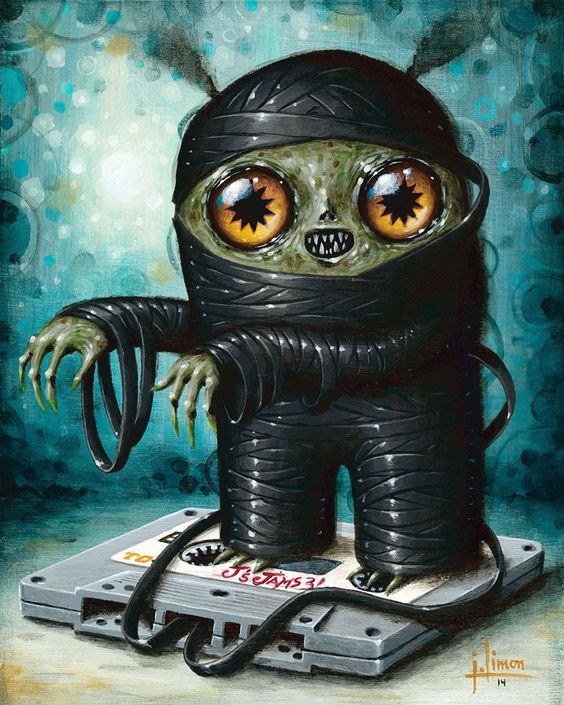 SpankyStokes.com | Vinyl Toys, Art, Culture, & Everything Inbetween: October 'Cryptidbits' from Jason Limon... both original paintings and prints!