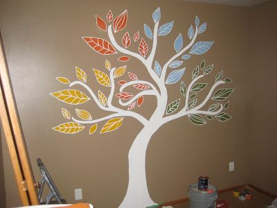 Four Seasons Tree Mural Painted For My Baby 39 S Nursery I