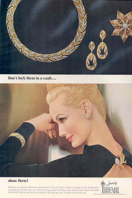 vintage jewelry advert