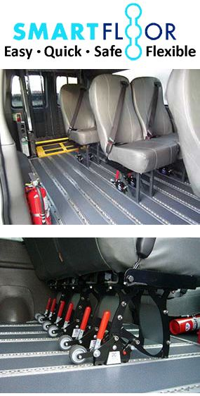 Smartfloor System For Commercial Wheelchair Vans And Transporters