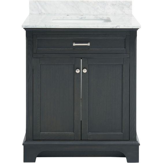 allen + roth Roveland Gray Undermount Single Sink Birch Bathroom ...