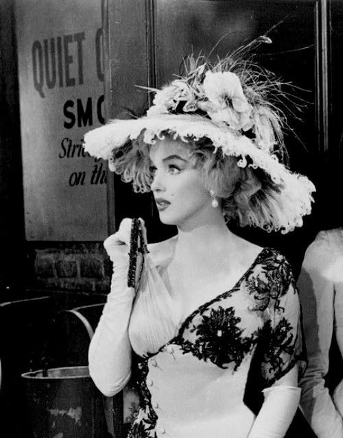 "Marilyn Monroe, ""The Prince and The Showgirl"", 1957."