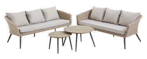 Zestaw Wypoczyn Vebbestrup 6 Miejsc Furniture Outdoor Furniture Home Decor