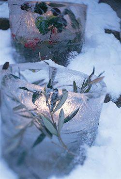 Winter Wedding Ice Lanterns