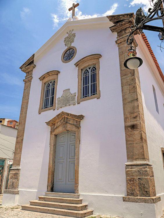 Capela restaurada no bairro da Saúde, na Gamboa, Rio de Janeiro, Brasil.