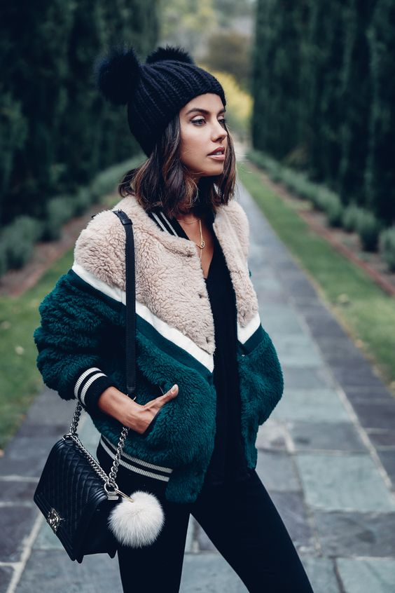 These teddy bomber jackets make such cute winter outfits!