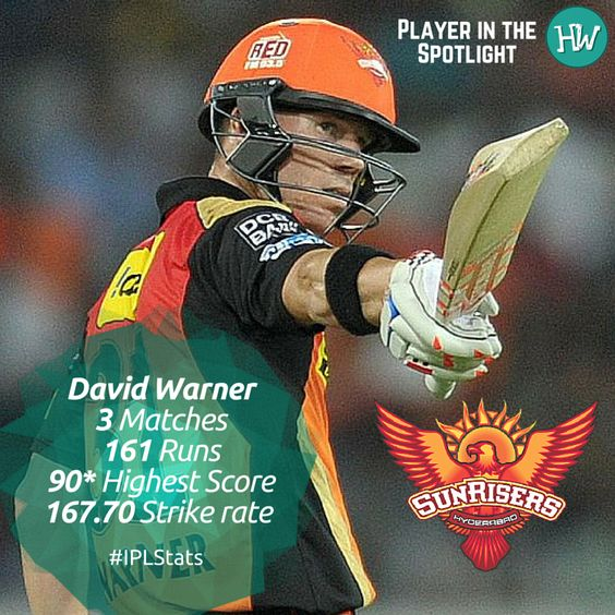 Our Player in the Spotlight for Sunrisers Hyderabad is David Warner! The captain has been leading his team from the front and is climbing the charts of the highest run scorers! Will he do the same for them tonight? #IPL #cricket #GLvSRH