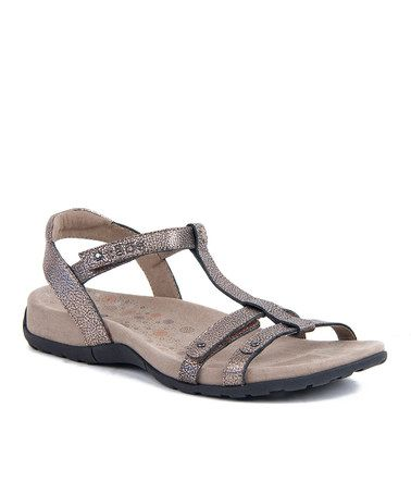 Take a look at this Penny Metal Trophy Sandal by Taos Footwear on #zulily today!