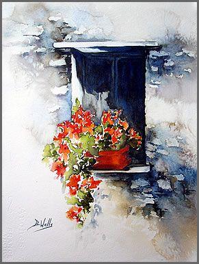Wells fen tre and aquarelles on pinterest for Pinterest aquarell