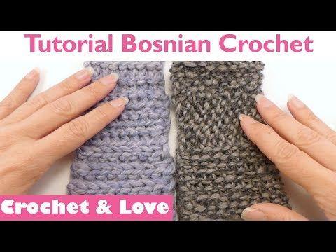 Uncinetto Basi.Tutorial Bosnian Crochet Le Basi Uncinetto Bosniaco
