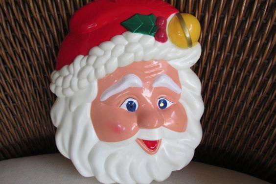 Adorable Blinking Light Vintage Santa on Etsy https://www.etsy.com/shop/recycledrita