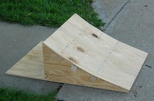 DIY Bike Ramp - This is the full site with explanation. Very good. Even has a video on the website. For Deirdre.