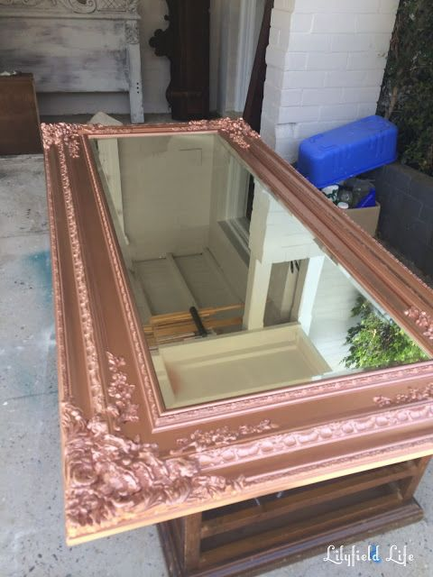 Antique Rose Gold Mirror From Aged Cream Rose Gold Furniture Rose Gold Wall Decor Rose Gold Bedroom