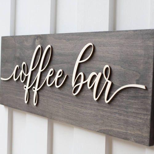 16 Creative Coffee Bar Decor Ideas All Gifts Considered Coffee Bar Signs Coffee Wall Decor Coffee Wood Signs