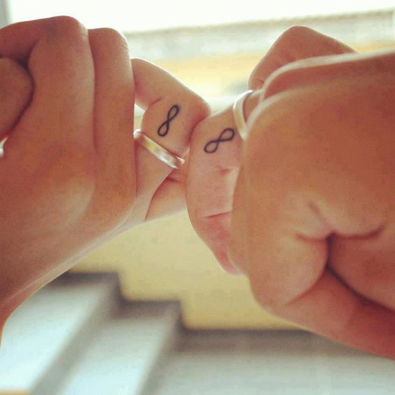 Awwww such a cute idea for couples! I want one of these love tattoos! This is a great idea because, even if you split, forever is still forever-- infinity is still infinite