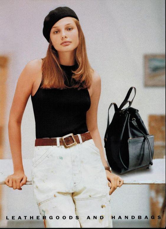 1995  RALPH LAUREN : BRIDGET HALL : Chelsea Collection Magazine Print AD  2- pg  | eBay