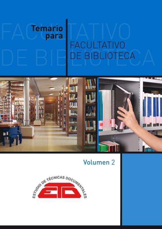 Temario para Facultativo de Biblioteca / edición preparada por María José de la Peña Huertas