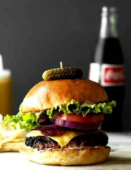 The little pickle on top... a cherry for a burger...