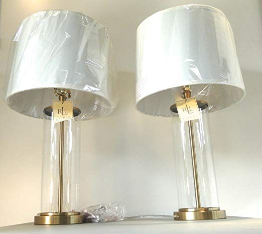 Rl Payton Glass Cylinder Lamps Lamp Shades For Sale Brass Table