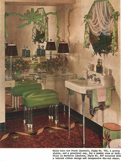 1940s decor bathroom and 1940s on pinterest for 1940s bathroom decor