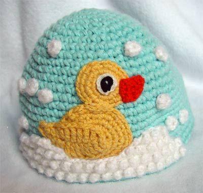 crochet duck hat