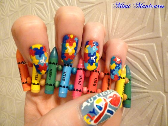 hey guys here Is my mani in support of autism awareness...hope you like http://mimimanicures.blogspot.co.uk/2013/04/world-autism-awarenessday-mani.html