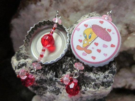 Tweety Valentine Custom Earrings