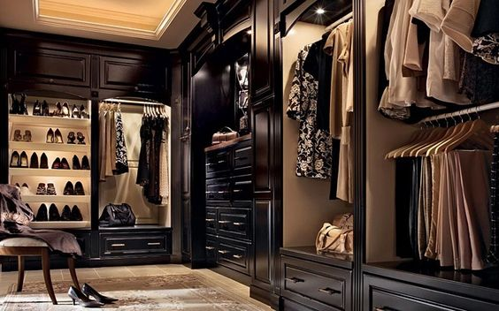 Beautiful closets closet and woods on pinterest for Beautiful walk in closets