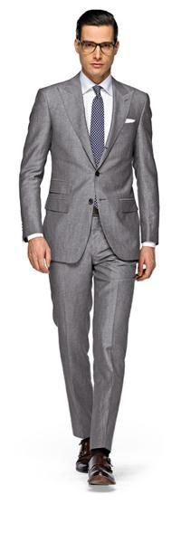 Silver suit - though I'd match it with a different collar and tie