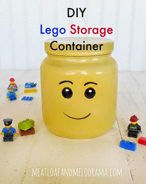 diy lego head storage container #TriplePFeature