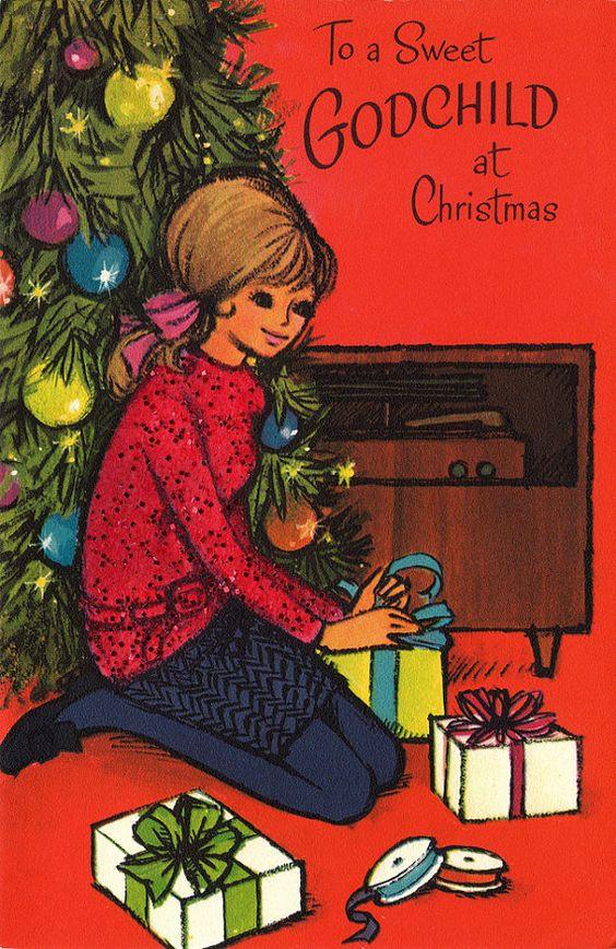 1971 Christmas card from poshtottydesignz on etsy: