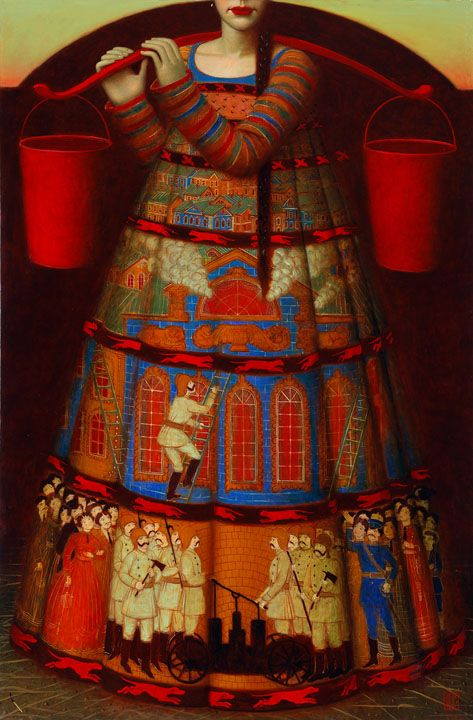 Fire Girl by  Adrey Remnev
