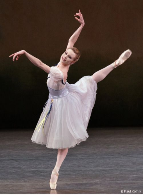 """nycbphotoblog:  Sara Mearns in August Bournonville, Stanley Williams, and Nilas Martins's""""Bournonville Divertissements"""" PHOTO CREDIT: Paul Kolnik"""