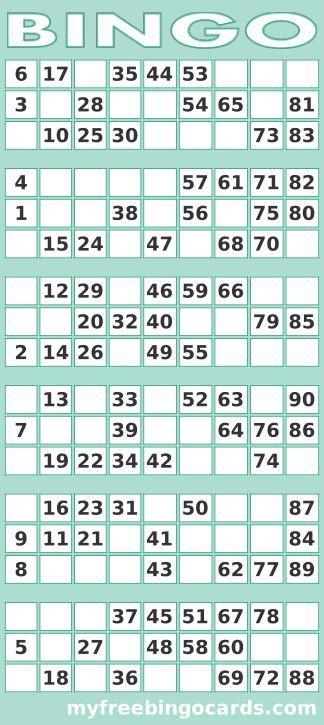 90 bingo cards